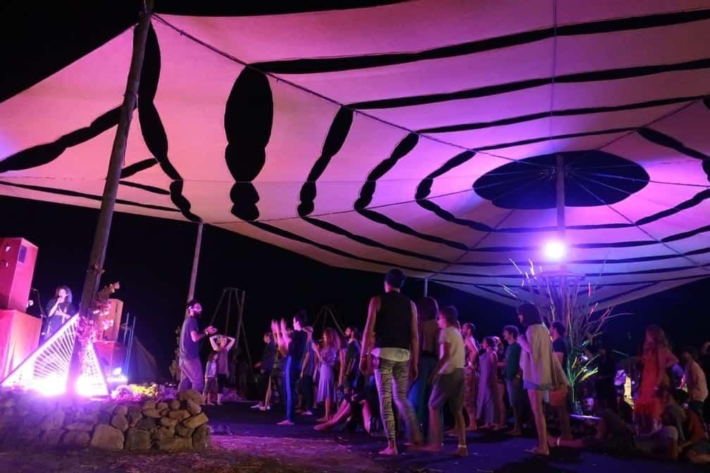 Escenario principal del Festival del Espíritu Agni 1