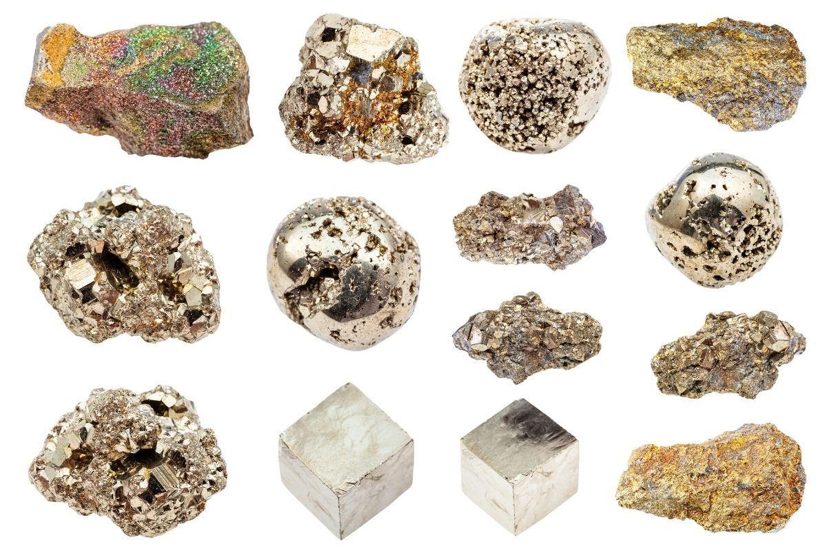 diferentes variedades de pirita